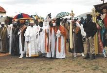 Pictures of Ethiopian Epiphany and Easter processions, Felasha village, Harar City wall